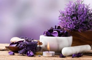 lavender treatment in a bowl